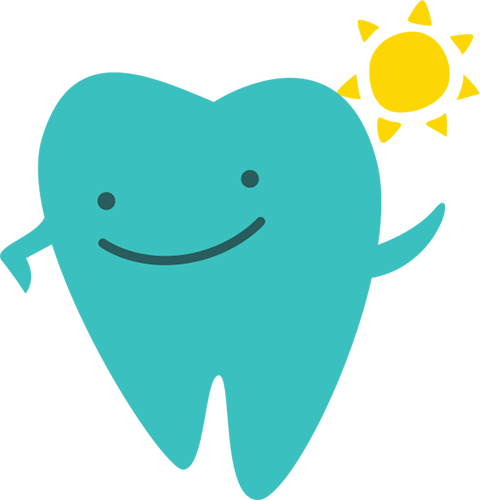 tooth-with-sun-Phoenix-Pediatric-Dentists-baby-tooth